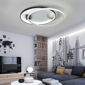 Moderne led deckenleuchten für wohnzimmer schlafzimmer ac85-265v weiß / schwarz farbe fernbedienung innenbeleuchtung deckenleuchte