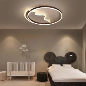 Moderne LED-Deckenleuchten Fernbedienung für Wohnzimmer Schlafzimmer Baby Wolke Herzform Runde Deckenleuchten bunt abajur
