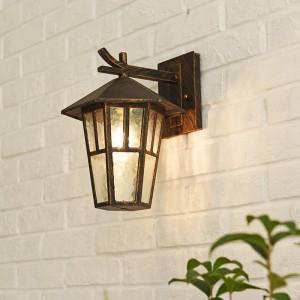 Moderne Loftlampen Vintage Outdoor Wandlampe Hexagonal Einfache Outdoor e27 Wandleuchte Wasserdichte Innenhoflampe Balkon Laterne