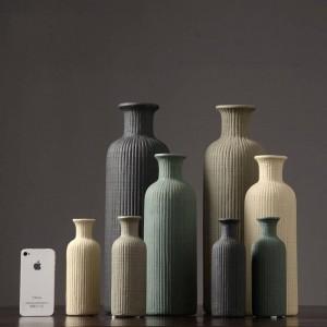 Moderne minimalistische Keramikvase Mode Blumenschmuck Dekoration Wohnzimmer vegetarische Vase Dekoration