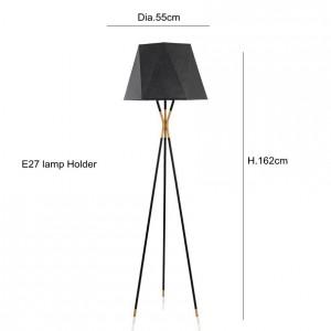 Moderne minimalistische Stehlampe Stehlampen schwarz für Wohnzimmer Lesebeleuchtung Dachboden Eisen Dreieck Stehleuchte