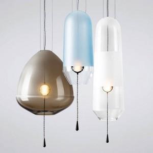 Moderne einfache bunte glas led pendelleuchten foyer restaurant glas blase licht luxus led pendelleuchte leuchte