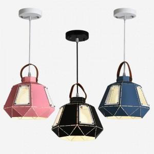Moderne einfache macaron pendelleuchten eisen kunst bunten lampenschirm esszimmer droplight foyer schlafzimmer dekoration leuchte