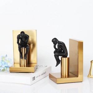 Moderne Studie Bronze Metall Ornamente Buch von kreativen Ornamenten Einrichtungsgegenstände europäischen abstrakten Charakter Buchstützen