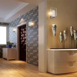 Moderne wand klar led licht leuchte edelstahl 6 watt led lampe moderne badezimmerschrank spiegelleuchte wandleuchten nachttischlampe