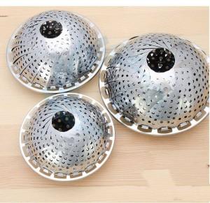 Multifunktions-Obstkorb aus rostfreiem Stahl zum Zusammenklappen. Klappbarer Dampfkorb für Gemüse