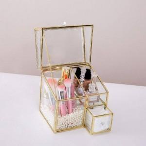 Multifunktionale Kosmetik Aufbewahrungsbox Flip Staub Glasbox Lippenstift Parfüm Finishing Box Desktop Kosmetik Aufbewahrung