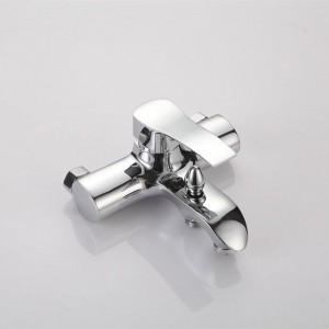 NEUE Dusche Wasserhahn Set Bad Wasserhahn Chrom-Finish Mischbatterie W / ABS Handbrause Wandmontage XT323