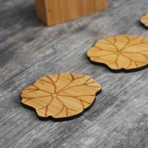 Natürlicher Bambus Untersetzer Set Runde kreative Tischset Tasse Matte Pad Kaffeetassen Porta Copos Dekoration Untertasse Isolierung