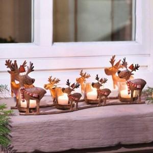 Neoklassizistischen Kerzenhalter Iron Art Elk Candlelight Cup Licht Licht Weihnachtsdekoration Schmuck Handwerk Kerzenständer Statue