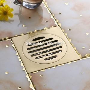 New Antique Europe Anti-Insekten-Desodorierungs-Haar Reines Kupfer Chromguss Toilette Badezimmer Dusche Bodenablauf FD-8
