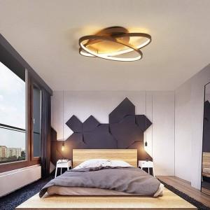 moderne led deckenleuchte kaffee und weiße farbe led lampe für arbeitszimmer schlafzimmer aluminium körper
