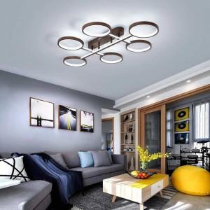 Neue ankunft moderne led kronleuchter lichter für wohnzimmer schlafzimmer arbeitszimmer hause kaffee farbe rahmen innen lampenfassungen dero