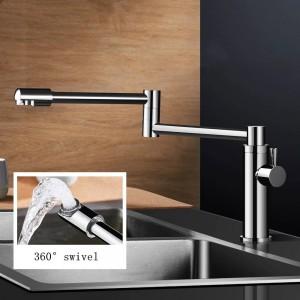 Neue Messing Küchenarmaturen Einzigen Kaltwasserhahn für Küche Einhebel-Wassermischer 360 Drehen Spültopf Füllstoff Wasserhahn L-888