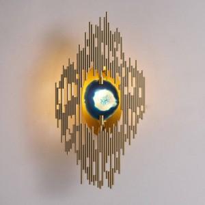 Neue klassische Achat Wandleuchte Metall vergoldet Wandleuchte Home Foyer Korridor Beleuchtung G9 LED Wandleuchte