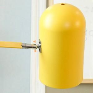 Neue klassische Stehlampe Wohnzimmer Dekoration Macarons bunte Metall Lampe Körper Lampe Lampenschirm Schlafzimmer Nacht LED-Beleuchtung
