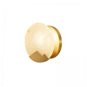 Neue klassische Marmorwandleuchte Metall vergoldet Wandleuchte Home Foyer Korridor Beleuchtung LED Wandleuchte