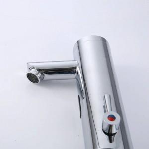NEUE Heiße Kalte Mischer Automatische Hand Touch Tap Heiße Kalte Mischer Batterieleistung Frei Sensor Wasserhahn Waschbecken XR8805