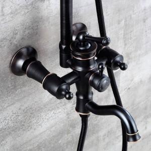 Neue Duscharmaturen Einzelhalter Dual Control Badewanne Wasserhahn Einhand-Top Regenbrause Mit Schiebestange Wasser Mischbatterie XT373