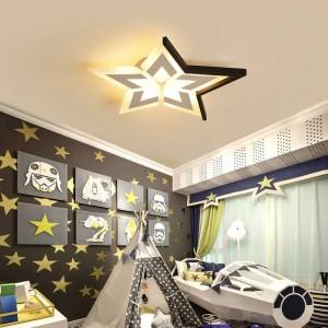 Neue Sterne / Mond / Wolken moderne Decke für Schlafzimmer Kinderzimmer Luminaria de Teto weiß / schwarz Deckenleuchten