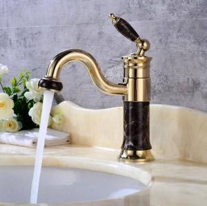 Neue stil Körper Bad Becken Wasserhahn Messing Mischbatterie Goldene Waschbecken Wasserhähne Einzigen Handgriff Becken Wasserhahn Rose Gold / Schwarz XT620