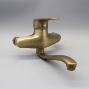 Duscharmaturen Antique Brass Bad Wasserhahn Duschkopf Wandmontage nur Badewanne Mischbatterie XT397