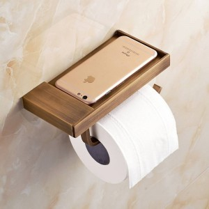 Neu Toilettenpapierhalter Antik Carving Handy Rollenpapierhalter Wand Papierhalter für Telefon 6P XT1022