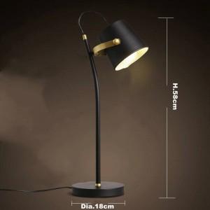Nordic Kurze moderne tischlampe Kreative schreibtisch licht Eisen kunst schwarz E27 led lampe studie schlafzimmer leuchte hause Leselampe