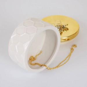 Nordic keramik schmuckschatulle goldenen vorratsbehälter einfache prinzessin dekorative ornamente Ehering Schmuckschatulle Ohrring Aufbewahrungsbox