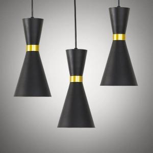 Nordic kreative einzigen Kopf LED-Kronleuchter Licht schwarz weiß Lampenschirm Gold Hängelampe Esszimmer E27 LED-Lampe 3W