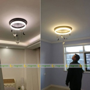 Nordic LED Deckenleuchte AC85-265V moderne kreative Engel Mond Kinderzimmer Runde Deckenleuchte Schlafzimmer Dekoration Lichter