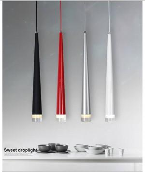 Nordic Led moderne einfache Pendelleuchte kreative Bar Restaurant Hotel Kaffee Rohr zylindrischen Kegel schwarz einzigen Kopf drolight