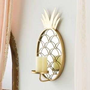 Nordic Luxus Dekorative Glasspiegel Dekoration Dekoration Ananas Wandbehang Kerzenhalter