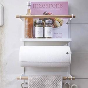 Nordic Metal Iron Storage Shelf Magnet Adsorptionskühlschrank Gewürzflaschen Diverses Storage Holders Organizer für Zuhause