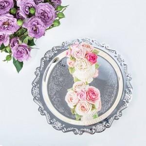 Nordic Metall Hochzeit Speicherplatte Desktop Skandinavien Schmuck Luxuriöse Kuchen Obstablage Organizer Decor für Zuhause