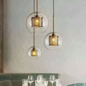Nordic moderne neue klassische wohnzimmer schlafzimmer pendelleuchten kreative klarglas droplight gold silber lampenkörper e27 led birne
