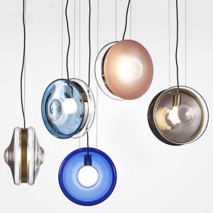 Nordic moderne einfache Esszimmer Kronleuchter Bar Foyer rundes Glas Droplight Schlafzimmer Café kreative LED Glasmalerei Lampe