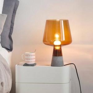 Nordic post moderne schreibtischlampe kreative zement tischlampe leselampe e27 led lampe studie wohnzimmer home art dekoration