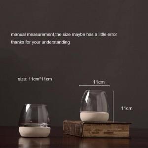 Nordischen Stil Kerzenhalter Zementglas Aromatherapie Kerzenbasis Candlelight Dinner Nachtlicht Cafe Schmuck Dekoration Handwerk