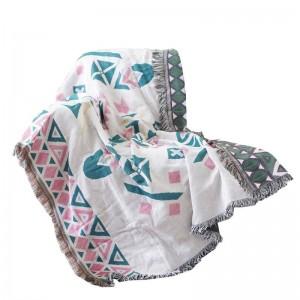 Nordic Decke Thread Sofa Cover geometrische Staubschutz Abdeckung Schonbezug Cobertor Decken für Betten Quaste Weihnachten