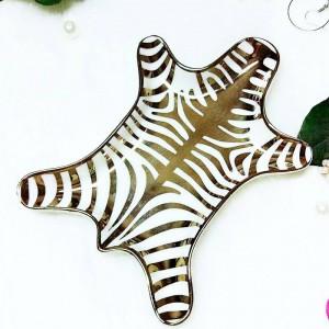 Nordic Tiger Haut Muster Keramik Ring Halskette Snack Aufbewahrungstablett kreative Kosmetik Desktop Storage dekorative Ornamente