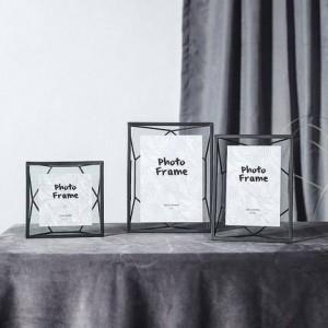 Nordic Wind Metall geometrischen Fotorahmen einrichten kreative einfache moderne Fotorahmen 6 7 Zoll dekorative Bilderrahmen