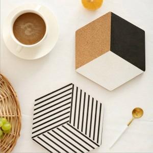 Nordic Holz Tisch Ablage Chic Skandinavischen Isolationspads Vogue Elegante Luxus Schreibtisch Aufbewahrungsplatte Organizer Decor