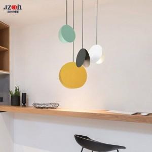 Nord einfache moderne pendelleuchte diy weiß gelb kaffee esszimmer schlafzimmer wohnzimmer kinderzimmer dekoration suspension