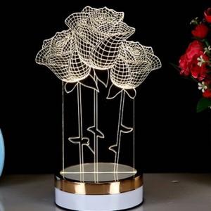 Neuheit Kreative 3D Illusion Lampe 3 Farben ändern LED Nachtlicht 3D Acryl Visuelle Tischlampe für Schlafzimmer Nachtbeleuchtung