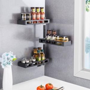 Organizer Dish Drainer Kühlschrank Abtropffläche Edelstahl Küche drehen Cozinha Kitchen Organizer Kitchen Rack