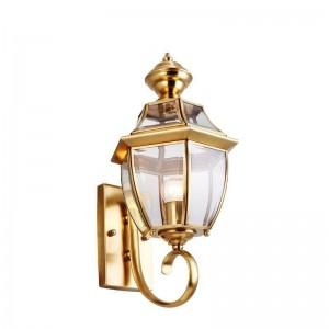 geführte kupferne Wandlampe im Freien imprägniern dekoratives helles Gartenanwendungsflurgang-Balkonlicht der europäischen Art