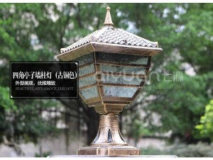 Säule Lampe große Landschaft Lampe Außenbeleuchtung Veranda Garten Lampe Neuheit Pavillon wasserdichte Außenwandleuchte LED Arandela