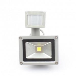 PIR 10W LED Flutlicht DC / AC12V Eingang IP65 Scheinwerfer Für Solar System Garagensicherheit Bewegungssensor Zeit Lux einstellbar