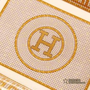 "Porzellan Aschenbecher Knochen ""H"" Mark Mosaik Design Kontur in Gold Rechteck Aschenbecher Zigarette Aschenbecher Werbegeschenke"